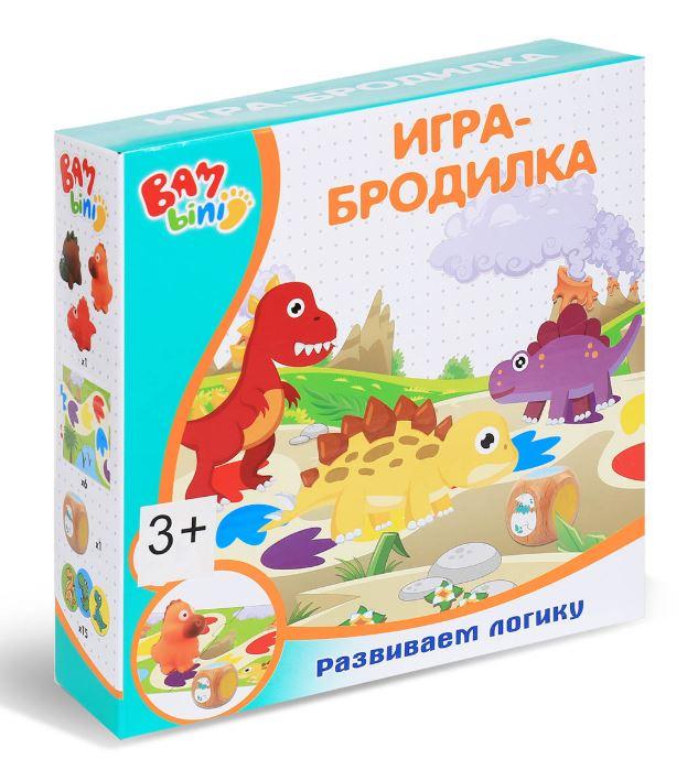 """Настольная игра """"Бродилка с динозаврами"""" - купить в ..."""