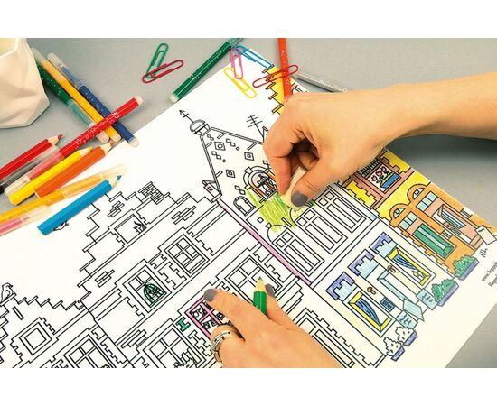 """Коврик-раскраска защитный многоразовый для стола """"Город ..."""